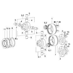 (6.2)Zestaw sprężyn K64/24 2350 Nm 6x2,0mm 4000-13