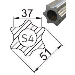 Profil S4 37x51 L1400 powlekany 113401