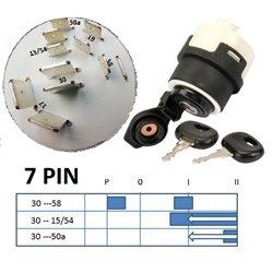 Stacyjka 7PIN z klapką bez blokady ponownego rozruchu bez funkcji grzania