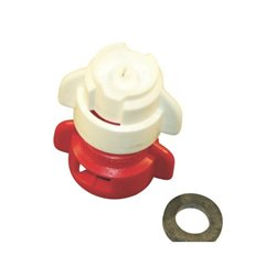 Rozpylacz inżektorowy TDXL 110° czerwony w części, ceramiczny