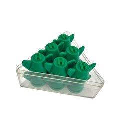Rozpylacze płaskostrumieniowe, zintegrowane z kołpakiem, 12 szt. w kpl. F 015-110 zielone