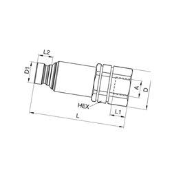 """Szybkozłacze suchoodcinające wtyczka ISO 12,5 wew. 3/4"""" Bsp"""