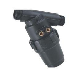 """Filtr ciśnieniowy 3/4""""  32 Mesh wkład Inox czerwony L124 skośny"""