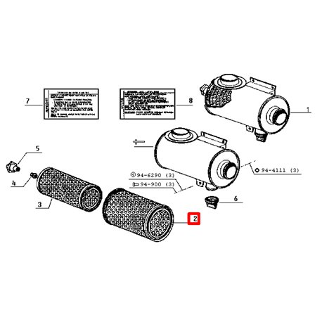 Filtr powietrza (7701028479)