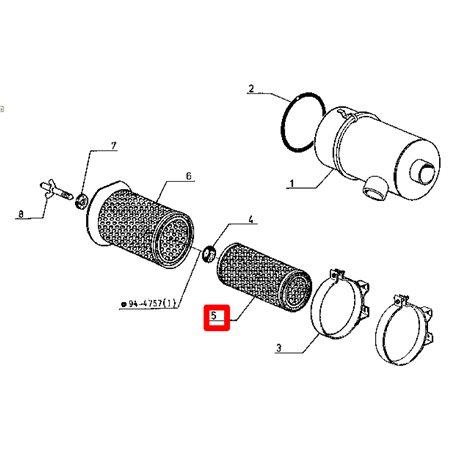 Filtr powietrza (6005010565)  bezpiecznik