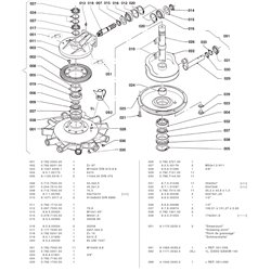 Wał centralny przekładni  K-792D (11-ramion centralna)