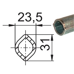 Profil 00C 23,5x31 x3,5 L1400 utwardzony 135884