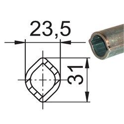 Profil 00C 23,5x31 x3,5 L1000 utwardzony 690052