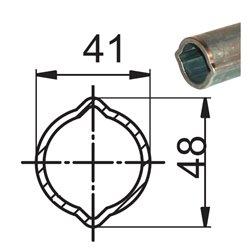 Profil 1 41x48x3 L1400 utwardzony 135886