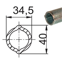 Profil 0V 34,5x40x4 L1400 utwardzony 116554