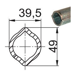 Profil 1B 39,5x49x4,5 L1000 powlekany 047901