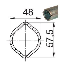 Profil 2A 48x57,5x4 L680 utwardzony 124647