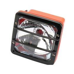 Reflektor, obudowa pomarańczowa, 140 x 140 mm