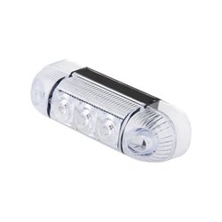 Lampa obrysowa 3 LED, 285, W-61, 12 V - 24 V, tylna, czerwona