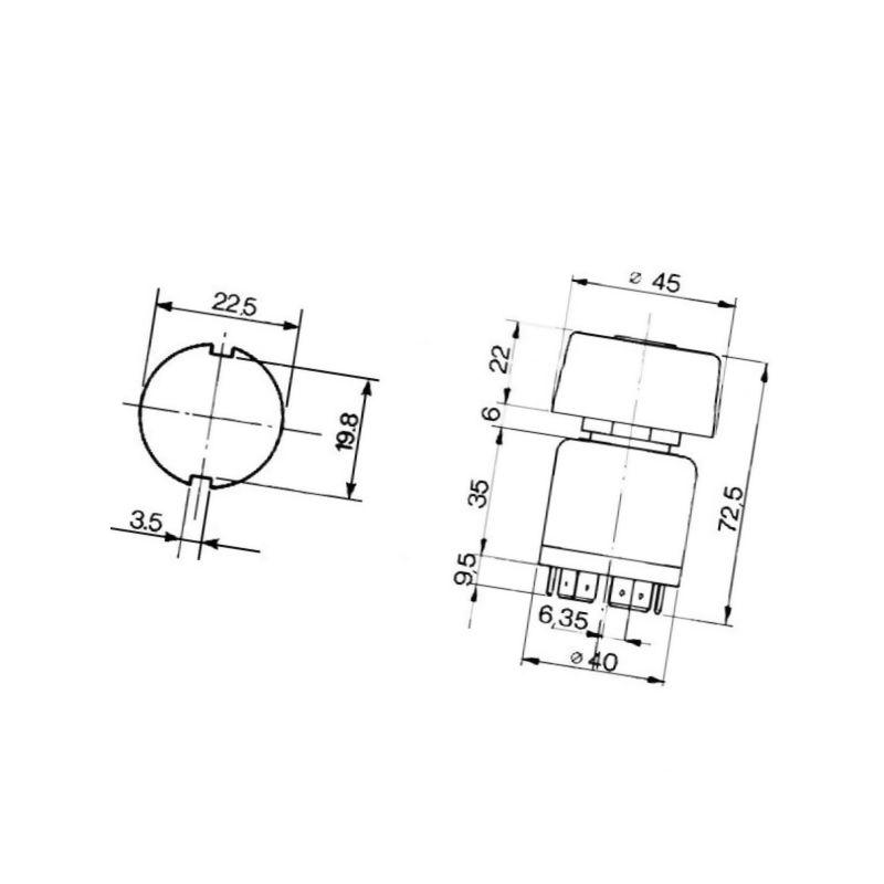 Zaczep 3-kierunkowy włącznika światła