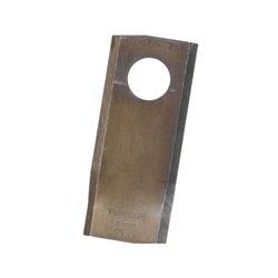 Nożyk kosiarki, 96 x 40 x 3, Ø 19, prawy
