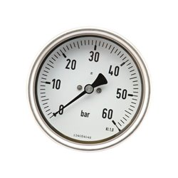 Manometr O100 0–60bar 1&amp034 tył